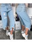 Жіночі стильні укорочені бриджі джинси