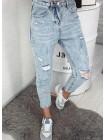 Женские модные рваные джинсы с высокой талией