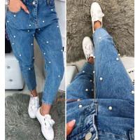 Жіночі модні джинси з намистинками