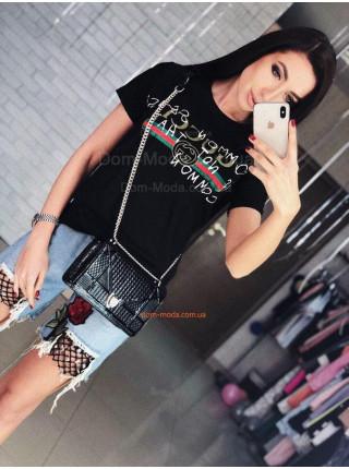 Женская летняя футболка Гуччи