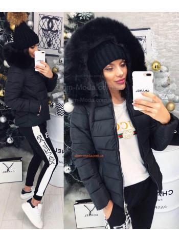 """Женская модная куртка с мехом """"Микс"""""""