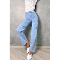 Стильные джинсы женские с высокой талией