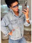 Модная куртка женская джинсовая