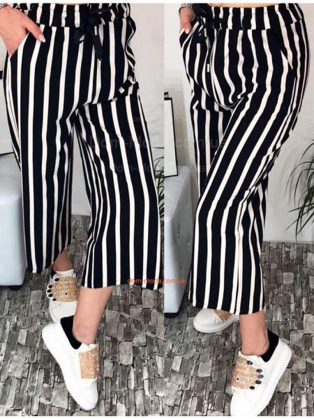 Женские брюки кюлоты в полоску