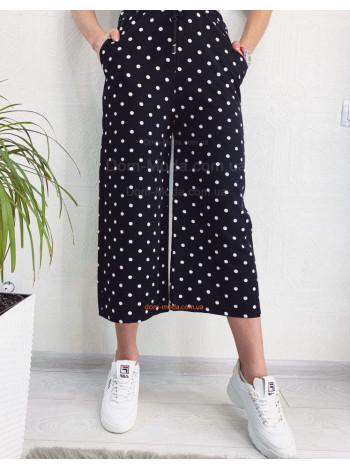 Жіночі брюки кюлоти в горошок