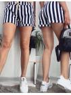 Короткие женские шорты в полоску