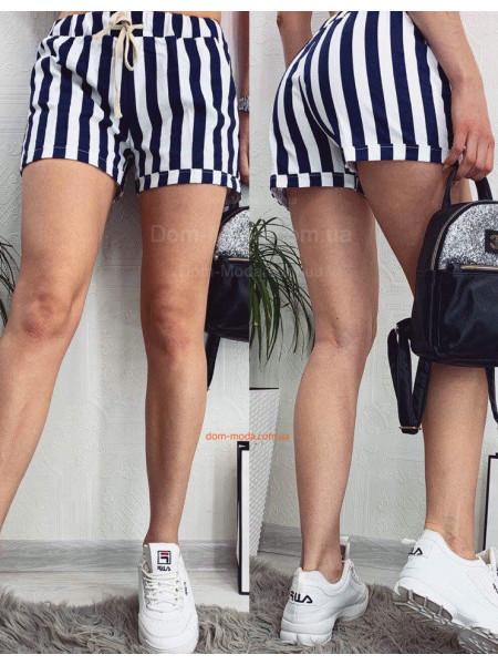 Короткі жіночі шорти в полоску