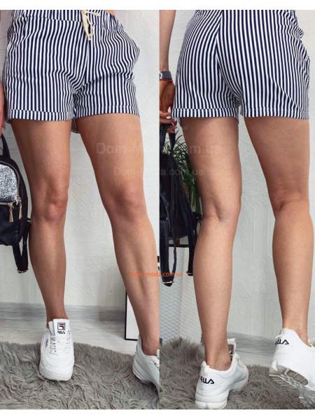 Короткие женские шорты в мелкую полоску