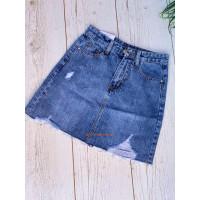 Коротка джинсова спідниця рвана