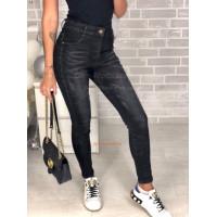 Модные женские джинсы скинни с высокой талией