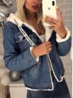 Женская джинсовая куртка на меху