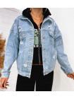 Классическая джинсовая куртка с потертостями