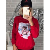 Жіноча кофта спортивна з капюшоном
