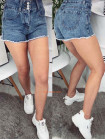 Женские модные джинсовые шорты на пуговицах