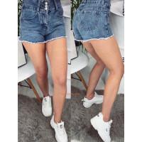 Жіночі модні джинсові шорти на гудзиках