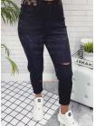 Чорні джинси мом з високою талією