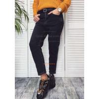 Стильні жіночі джинси на флісі з поясом