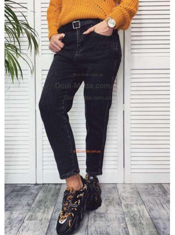 Стильные женские джинсы на флисе с поясом