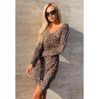 """Жіноче леопардове міні плаття """"Сафарі"""""""