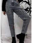 Молодіжні жіночі джинси з вишивкою