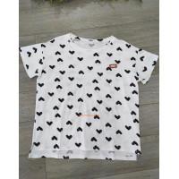 """Молодіжна футболка з принтом """"Сердечка"""""""