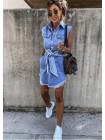 Джинсовое короткое женское платье