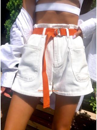 Білі джинсові шорти жіночі