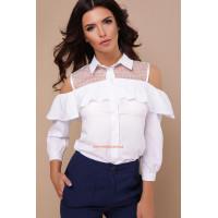 Женская стильная блузка с длинным рукавом