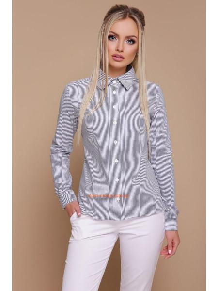 Модная классическая рубашка в полоску женская