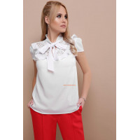 Женская модная блузка с гипюром