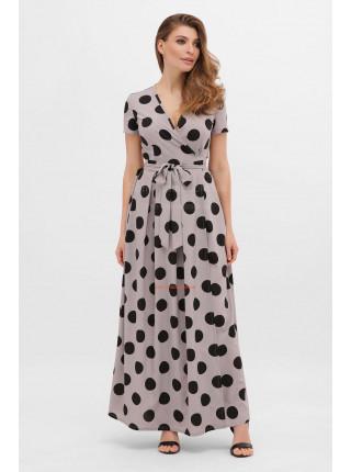 Длинное платье в крупный горошек