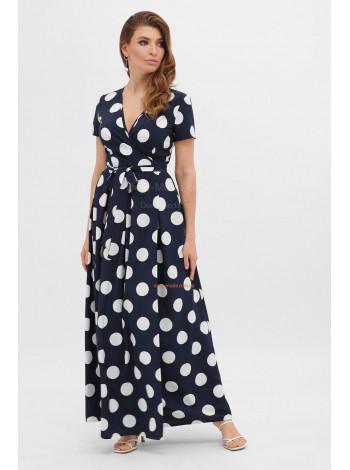 Довге плаття в великий горошок