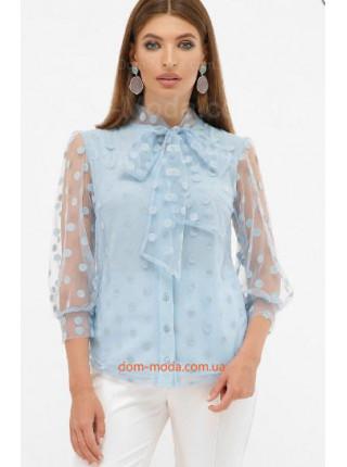 Блузка из сетки в горошек