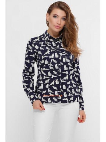 Модна жіноча сорочка з принтом кішка