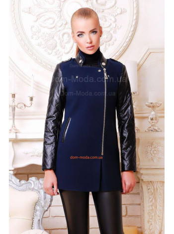 """Кашемировое модное пальто с кожаными вставками """"Пекин"""""""