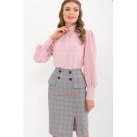 Женская шёлковая блузка с длинным рукавом