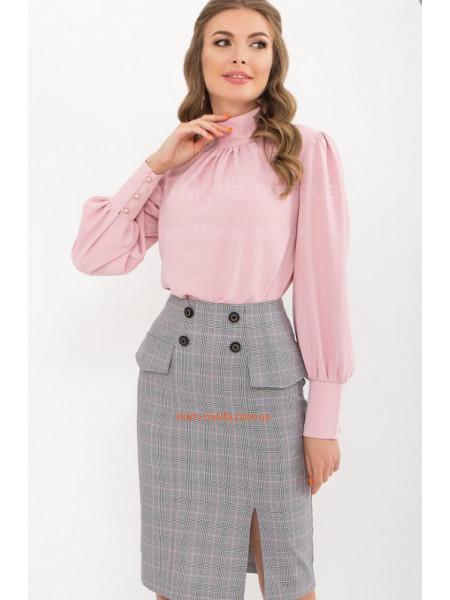 Жіноча шовкова блузка з довгим рукавом