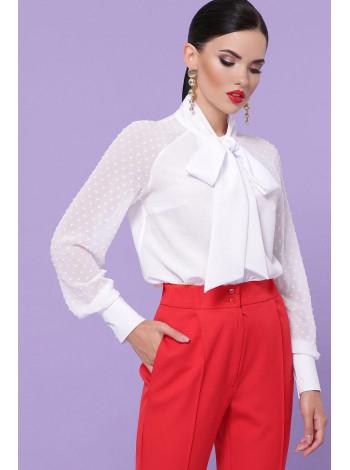 Елегантна шифонова блузка з бантом