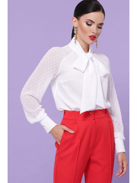 Элегантная шифоновая блузка с бантом