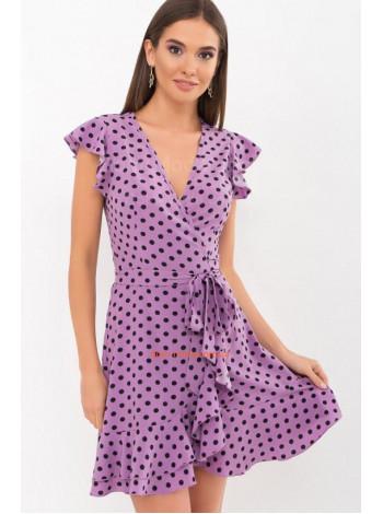 Женское летнее платье с запахом и рюшами