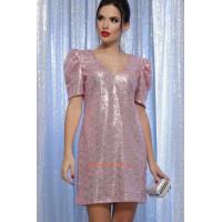 Женское коктейльное платье с пайетками