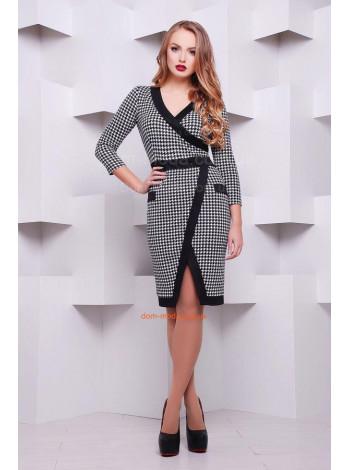 """Офисное модное платье с длинным рукавом """"Августа"""""""