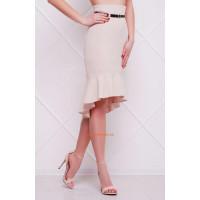 Модна асиметрична спідниця жіноча з високою талією