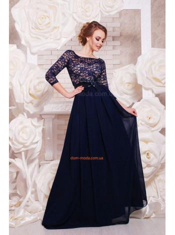 Длинное вечернее платье в пол с рукавом