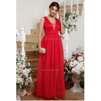 """Красное вечернее платье в пол """"Нарядное"""""""