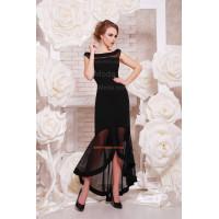 """Женское однотонное вечернее платье """"Длинное"""""""