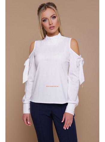 Женская стильная рубашка с открытыми плечами