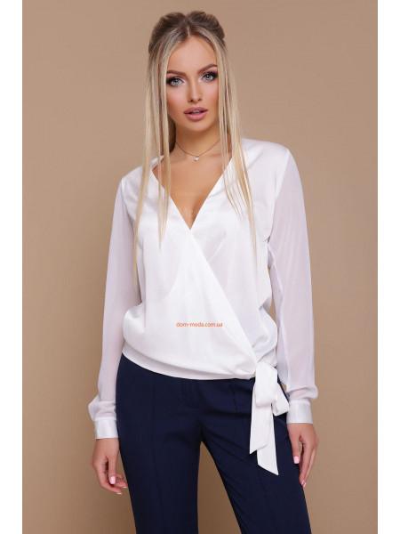 Женская модная блузка с запахом