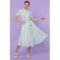 Летнее женское платье рубашка фасона солнцеклеш