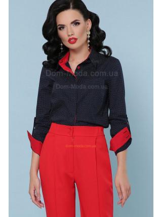 """Модна жіноча блузка в горошок з довгим рукавом """"Клер"""""""